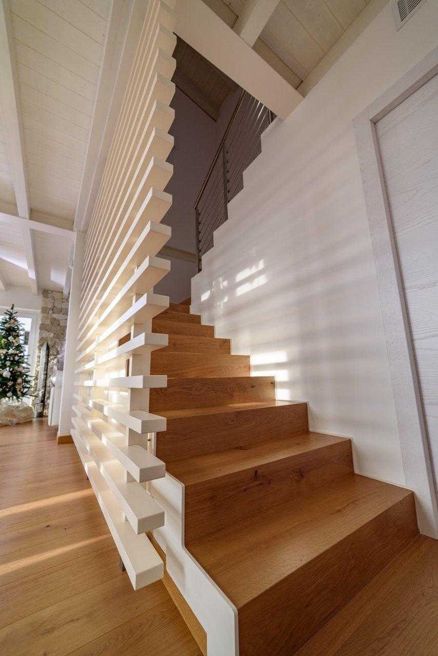 Parete divisoria bianca in legno e acciaio sprea arredamenti - Parete divisoria casa ...