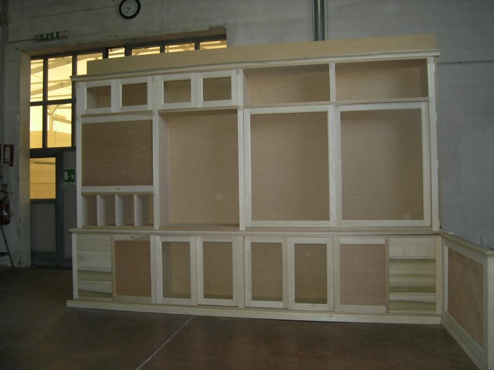 04 altro mobile soggiorno legno grezzo su for Mobili particolari per soggiorno